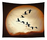 Sun Geese Tapestry