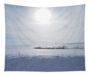 Sun On Snow Tapestry