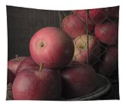 Sun Warmed Apples Still Life Square Tapestry