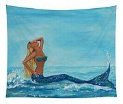 Sunbathing Mermaid Tapestry