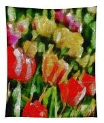 Sunbathing Tulips Tapestry