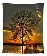 Sunblock A Sunset On Lake Oconee Tapestry