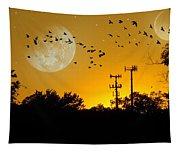 Sundown Fantasy Orange Tapestry