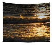 Sundown On The Waves Tapestry