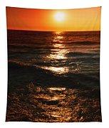 Sundown Reflections On Lake Michigan  01 Tapestry
