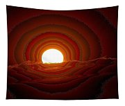 Sunfall Behind The Mountains Tapestry