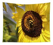 Sunflower And Bee-3922 Tapestry