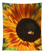Sunflower And Bee-4041 Tapestry
