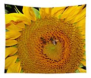 Sunflower And Bees Tapestry