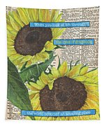Sunflower Dictionary 2 Tapestry