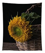 Sunflower In A Basket Tapestry