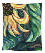 Sunflower One Panel Four Of Four Tapestry