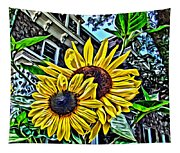 Sunflower Under The Gables Too Tapestry