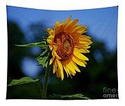 Sunflower With Honeybee Tapestry