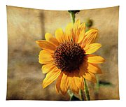 Sunflower With Texture Tapestry