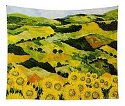 Sunflowers And Sunshine Tapestry