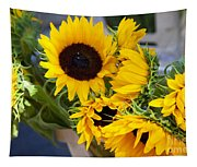 Sunflowers At Market Tapestry