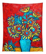 Sunflowers Bouquet Tapestry