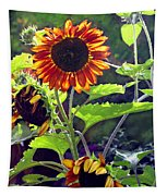 Sunflowers In The Park Tapestry