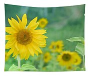 Sunflowers Vintage Dreams Tapestry
