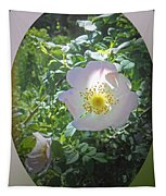 Sunlight On The Wild Pink Rose Tapestry