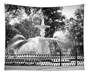 Sunlight Through Savannah Fountain With Vignette Tapestry