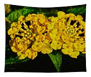 Sunny Lantana Tapestry