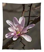 Sunny Pink Magnolia Blossom Tapestry