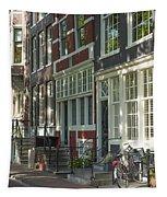 Sunny Street In Amsterdam Tapestry