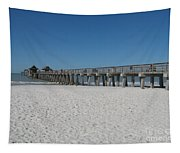 Sunny Day At Naples Pier Tapestry
