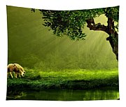 Sunrays In An Ireland Sheep Pasture  Tapestry