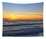 Sunrise And Waves Tapestry
