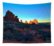 Sunrise At Arches National Park Tapestry