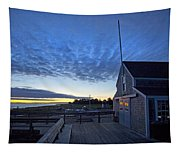 Sunrise At Barnstable Yacht Club Tapestry