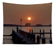 Sunrise At Piney Point Maryland Tapestry
