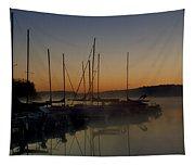 Sunrise At The Marina - Lake Nockamixon State Park Tapestry