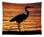 Sunrise Heron Tapestry