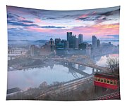 Pittsburgh Fall Day Tapestry