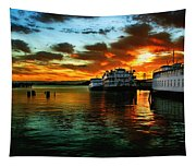 Sunrise In San Francisco Tapestry