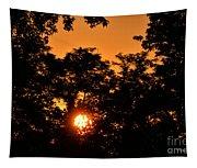 Sunrise In The Forest Tapestry