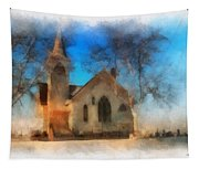 Sunrise On A Rural Church 04 Tapestry