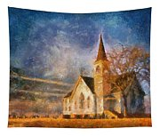 Sunrise On A Rural Church 13 Tapestry