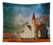 Sunrise On A Rural Church 18 Tapestry