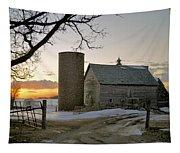 Sunrise On Birch Tapestry