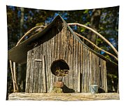 Sunrise On Birdhouse Homestead Tapestry