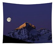 Sunrise On Piz Julier Switzerland With Moon Tapestry