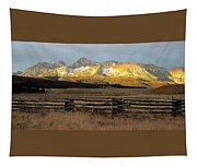 Sunrise On Sawtooth Mountains Idaho Tapestry