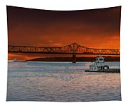 Sunrise On The Illinois River Tapestry