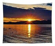 Sunrise On Yellowstone Lake Tapestry