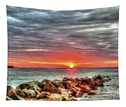 Sunrise Over Breech Inlet On Sullivan's Island Sc Tapestry